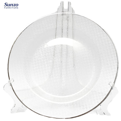 Wedding Glass  Clear Transparent Charge Plates SZ-3008