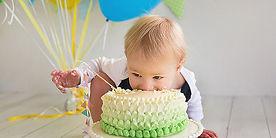 Birthday Child and Cake