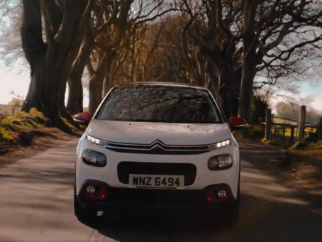 Aerial footage for Citroen C3 Commercial