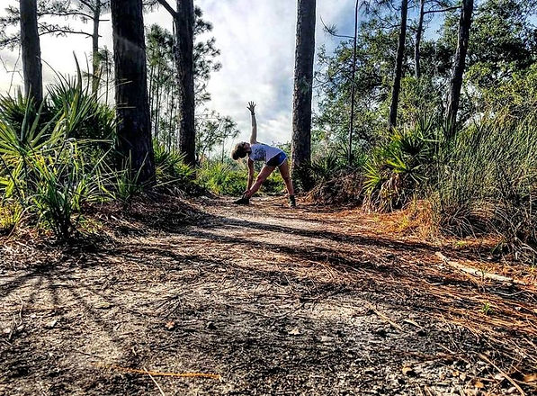 Hiking and Yoga at Weedon Island, Florida