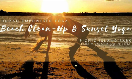 Beach Clean-up & Sunset Yoga on the Bay
