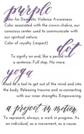                                     purple dot yoga project:  Kids Yoga for domestic violence shelters
