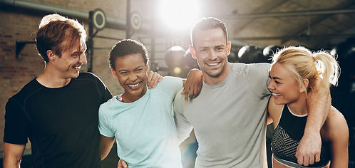 laughing-group-of-diverse-friends-standi