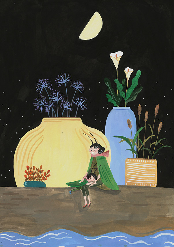 Mother, flower, the Moon >>