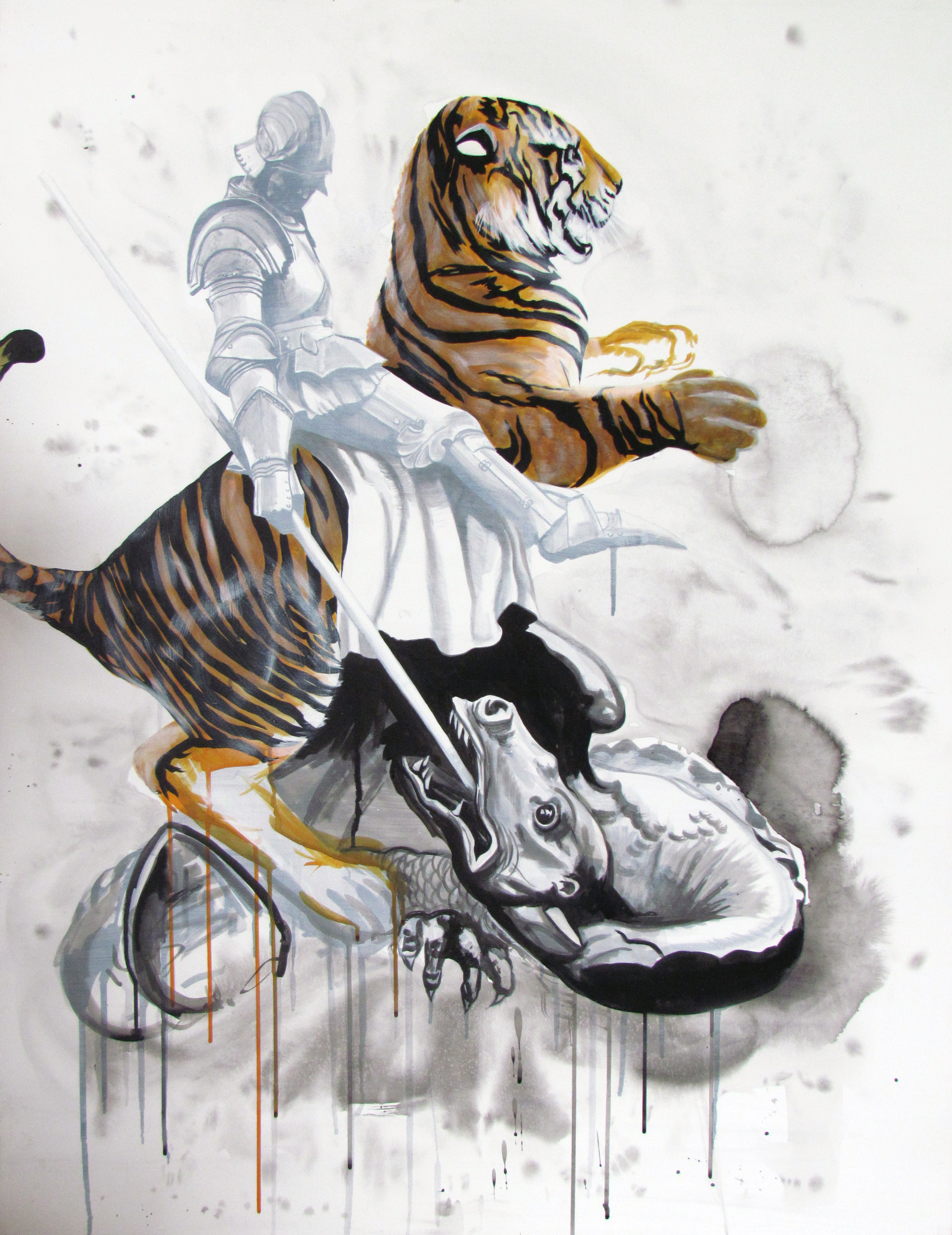 George the Dragon and Tiger