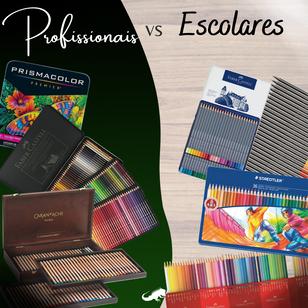 Lápis de cor: profissionais vs escolares. Qual a diferença e qual comprar?
