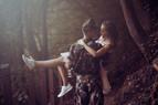 Jegyes fotózás Ágival és Mátéval