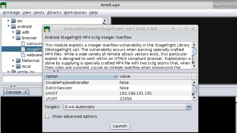 Metasploit Basics, Part 6 :The Armitage Metasploit User