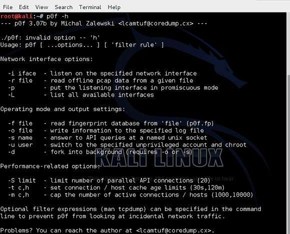 Operating System (OS) Fingerprinting with p0F