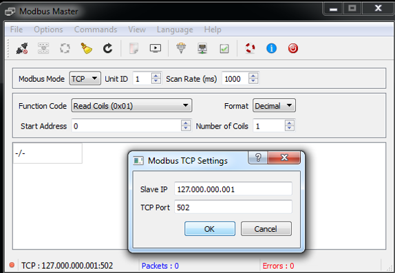 SCADA Hacking: Modbus Master/Slave Simulation