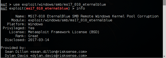Metasploit Basics, Part 7: Adding a New Module (EternalBlue)