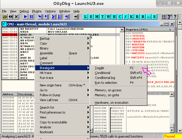 Reverse Engineering Malware, Part 5: OllyDbg Basics