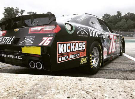 Kickass Beef Jerky Returns to NASCAR as an Associate Sponsor of Spencer Boyd
