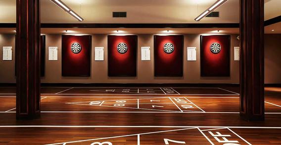 Shuffle Board & Darts Room
