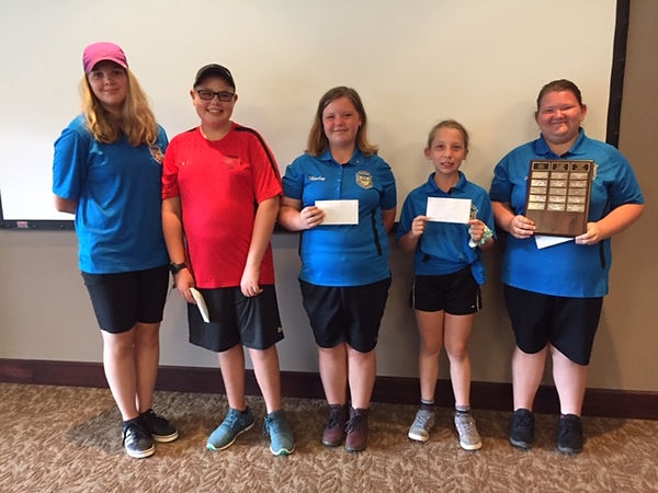 Emma Oosting (Oshawa) 5th, Calvin Smith (Lindsay) 4th, Hailey Pagett (Oshawa) 3rd, Emma Benoit (Oshawa) 2nd, Zoey Pagett (Oshawa) 1st