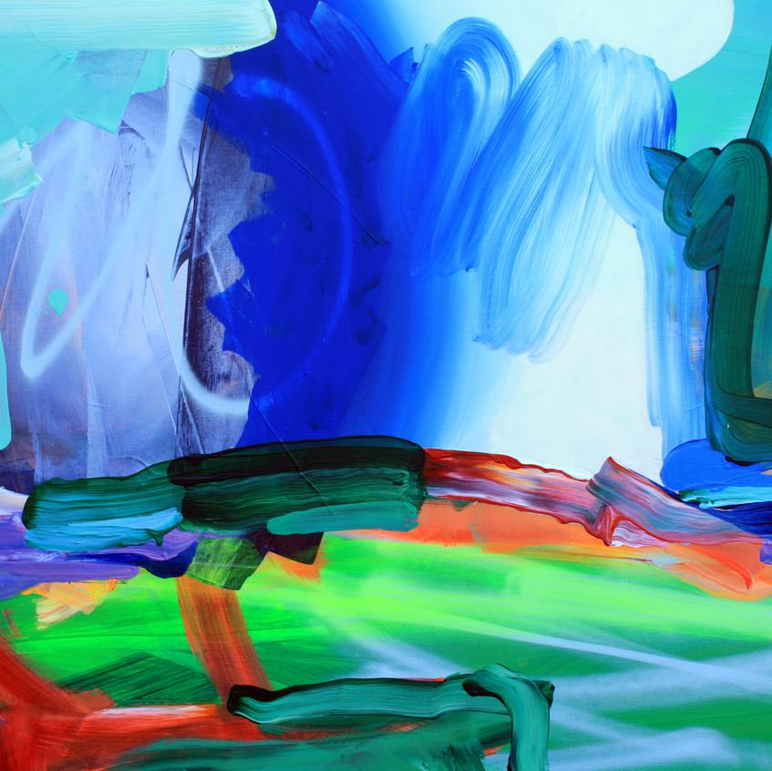 Kulvinder Kaur Dhew. 'Blowfish Beta' Acrylic on canvas