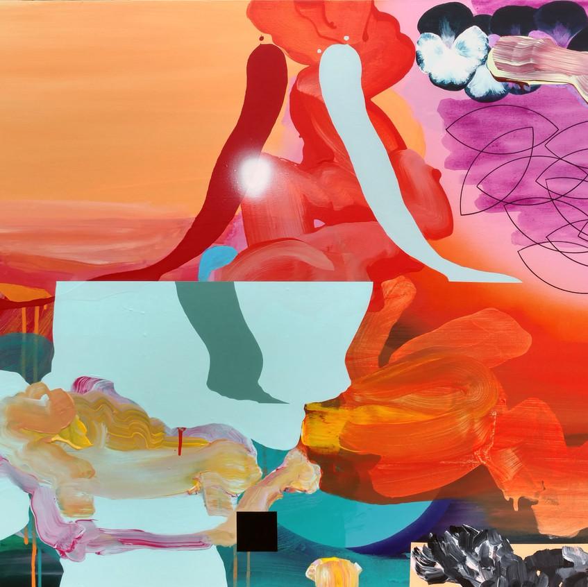 Kulvinder Kaur Dhew. 'Melbourne Mirror' Acrylic on canvas