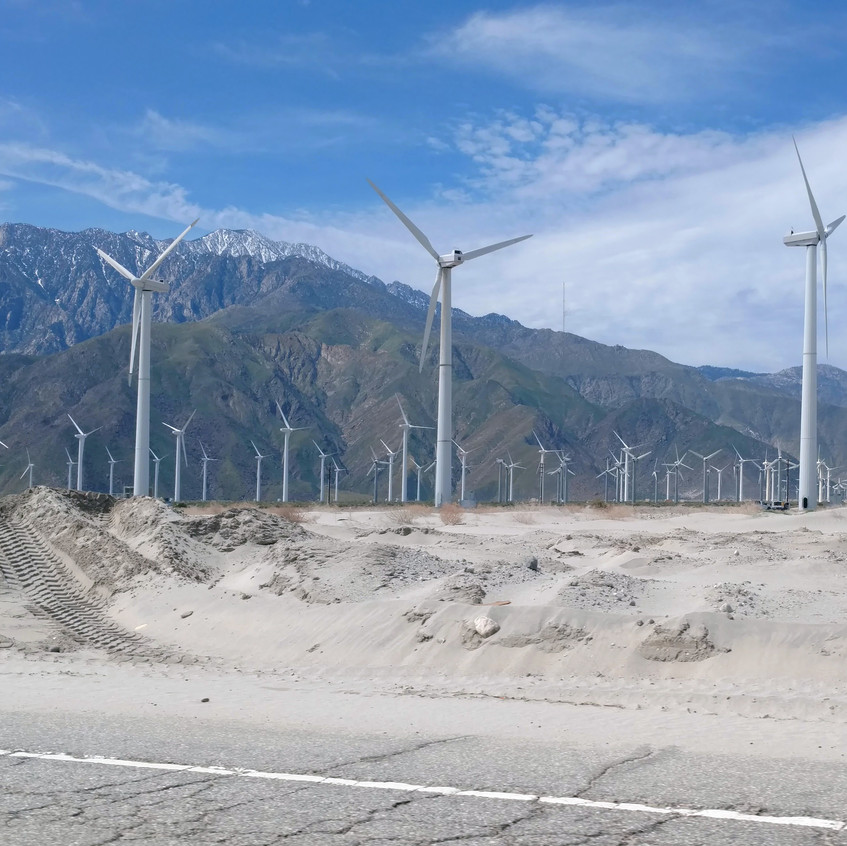 Wind turbines, Palm Springs.