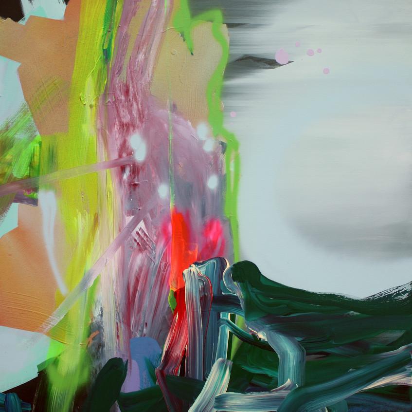 Kulvinder Kaur Dhew. 'Tectonic'. Acrylic on canvas