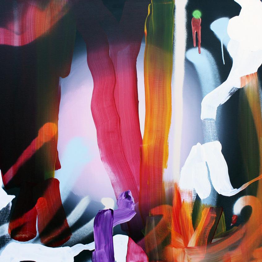 Kulvinder Kaur Dhew. 'Phosphorus Interior'. Acrylic on canvas