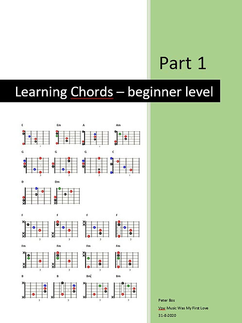 Learning Chords - Part 1 - Beginners level
