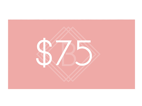 $75 BEAUTY BOUTIQUE GIFT CARD