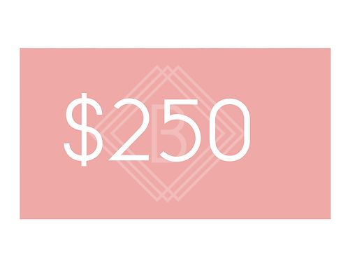 $250 BEAUTY BOUTIQUE GIFT CARD