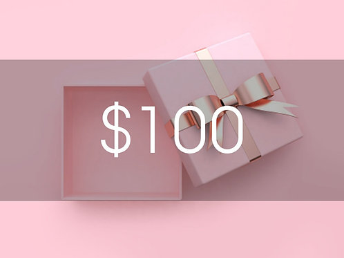 $100 BEAUTY BOUTIQUE GIFT CARD