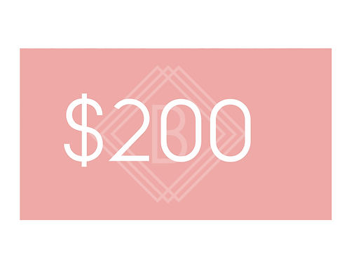$200 BEAUTY BOUTIQUE GIFT CARD