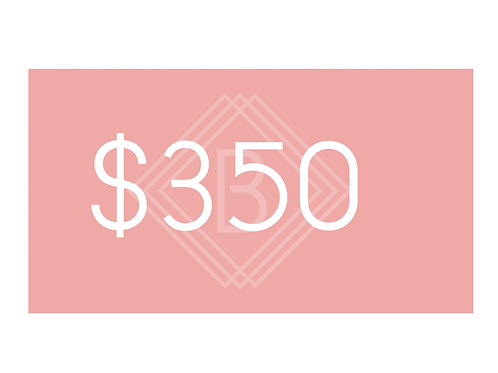 $350 BEAUTY BOUTIQUE GIFT CARD