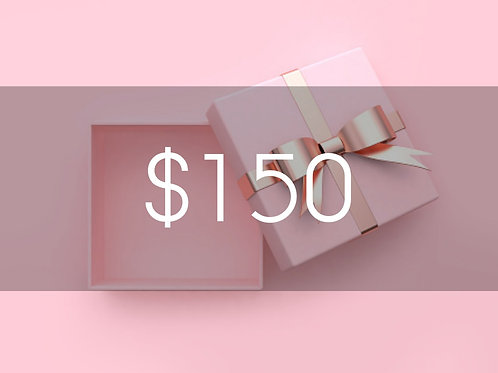 $150 BEAUTY BOUTIQUE GIFT CARD