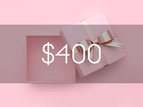 $400 BEAUTY BOUTIQUE GIFT CARD