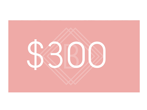 $300 BEAUTY BOUTIQUE GIFT CARD