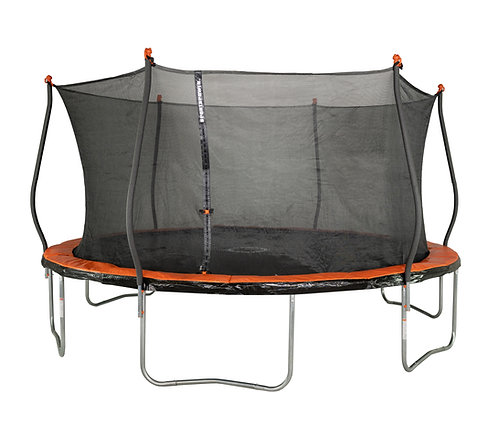 Bounce Pro 15-Foot Trampoline, with Classic Enclosure, Orange