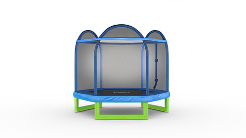 Copia de Bounce Pro 7-Foot My First Trampoline Hexagon (Ages 3-10) for Kids, Blu