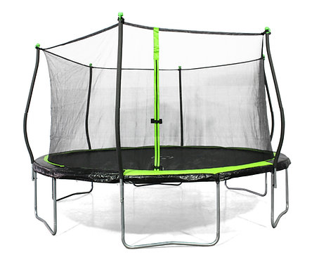 Bounce Pro 14-Foot Trampoline, with Classic Enclosure, Black Green