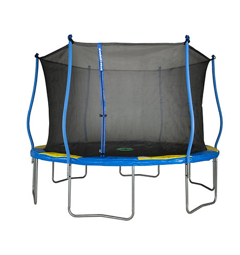 Bounce Pro 12-Foot Trampoline and Classic 6 Pole Enclosure with Flash Litezhone