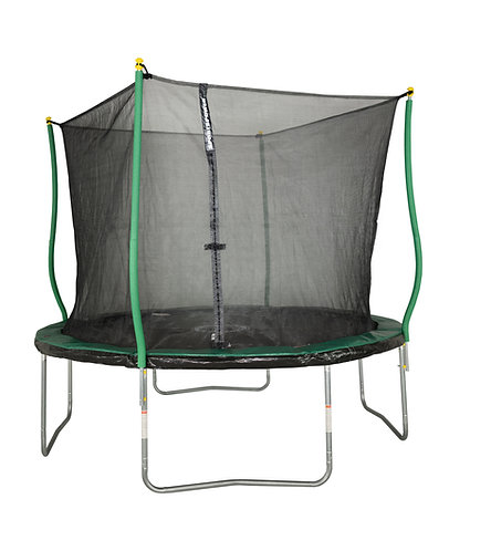 Bounce Pro 10-Foot Trampoline, with Classic Enclosure and Flash Light Zone, Gree