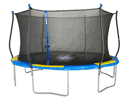 Bounce Pro 14-Foot Trampoline and Enclosure Combo with Spinner Flashlight Zone