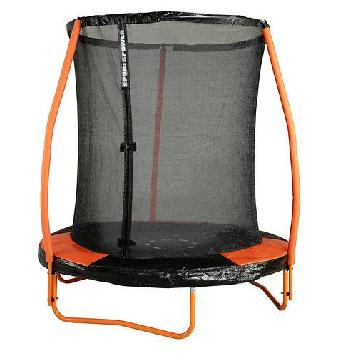 Bounce Pro 6-Foot Trampoline, with Enclosure and Mini Flash Light Zone, Orange
