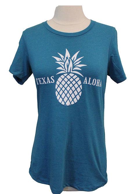 Texas Aloha Tee - Teal