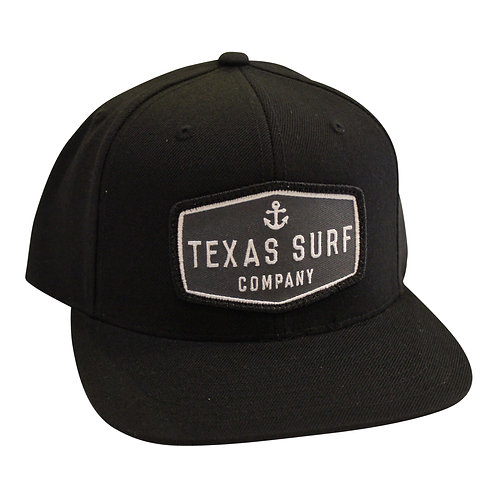 Anchor Patched Snapback - Black