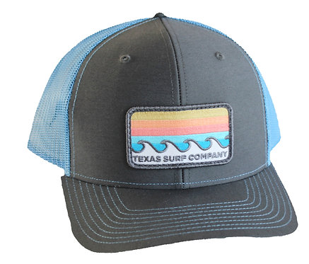 Waves Patched Trucker - Blue