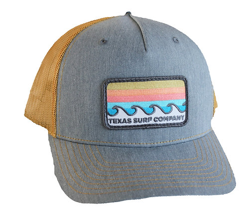 Waves Patched Trucker - Heather