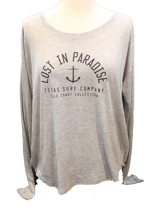Lost In Paradise Long Sleeve - Silver