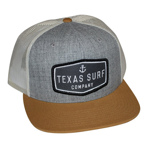 Anchor Patched 5-panel - Heather Grey/White