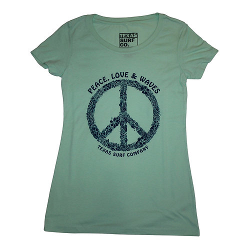 Peace Love & Waves Tee