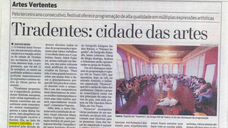 Festival Artes Vertentes no jornal O Tem
